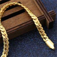 Collar de oro Latón de los hombres Chapado en oro 24k joyería de oro 238 Q2