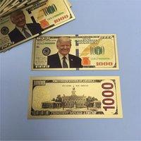Трамп Доллар США Президент Банкнота Пластиковая золотая фольга плиссированные счета Американские генеральные выборы Сувенир поддельных денег купон