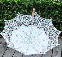 Battenburg Encaje Parasol y Fan Sun Umbrella Set Bride Adult Tamaño Vintage