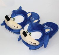 Cm Geluidsnelheid Blauw Hedgehog Home Slippers Winter Indoor Schoenen Cartoon Sonic Volwassen Pluche Doll Gift