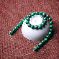 Natural Malaquite Pedra Grânulos Verde Grânulos Soltos 4 6 8 10 12 14mm para Jóias Pulseira Colar fazendo DIY Bead 109 Q2