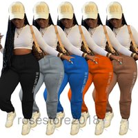 Autumn womens Fashion pants Letter printing High street trousers women casual loose winter Sweatpants A454