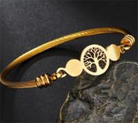 Braccialetti di fascino del fascino della vita dell'acciaio inossidabile per le donne dell'argento dell'oro dell'oro del braccialetto del braccialetto del braccialetto di modo del braccialetto di modo 110 L2