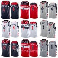 Print Basketball Russell Bradley Beal 3 Westbrook Jersey 4 Rui Hachimura 8 Robin Lopez 42 Cassius Winston 5 Deni Avdija 9 Ville Gris Vente pas cher