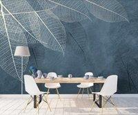 Bacal Custom 3D Wandbild Tapete Abstrakt Modern Blatt Hintergrund Malerei Wand Schönheit Wohnkultur Tapeten