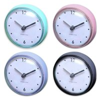 Bathroom Waterproof Wall Hanging Suction Cup Clock Simple Design Watch For Home Bedroom Living Room Decorations Timing M6CE Clocks