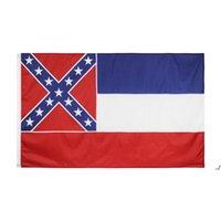 Großhandel Hohe Qualität 90 * 150 cm 3 * 5FTs 100% Polyester US USA State Mississippi Flag DWB5820
