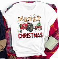 Kobiety Lady Tops Tees Tree Tree Snowflake Rok Szczęśliwe wakacje Wesołych Świąt Boże Narodzenie Print Tshirt Top Graphic Kobieta T Shirt
