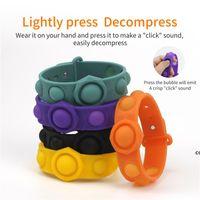 Bubble Fidget Toys Sensory Ring Bracelets Party Favor Puzzle Press Finger Bubbles Stress Bracelet Wristband Decompression Keychain DHF7737