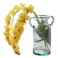 اكليل الزهور الزخرفية 11 رؤساء 72 سنتيمتر الاصطناعي زهرة phalaenopsis اللاتكس السيليكون ريال تاتش فراشة الأوركيد باقة الزفاف المنزل