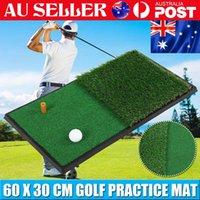 60x30cm Golf Mat Swing Practice Hitting Mat Nylon Grass Rubber Ball Tee Indoor Outdoor MatTraining Aids Accessory Home Gym Used Floor Pad