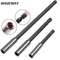 Professional Drill Bits WAVEWAY Electric Socket Adapter 1 4 Hex Shank Self-locking Quick Release Screwdriver Extension Bar Power Tools