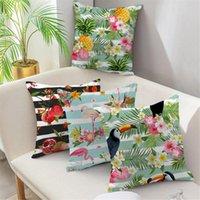 Poduszka / Dekoracyjne Poduszki Paski Dekoracyjne Poduszki Pokrywa Do Salonu Sofa Home Decor Krzesła Biurowe Poduszki Fruit Flower Bird Print Case
