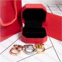 Designer Ring Mode Steine Ringe Liebhaber Hochzeit für Mann Frau 4 Stil 12 Farbe Top Qualität