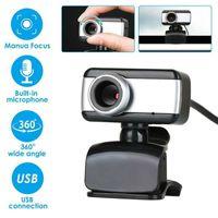 Camcorders 480P Consumidor 360 Graus Rotatable USB HD Webcam Câmera com Microfone para PC Laptop Computer *