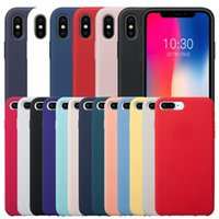 Official Original Liquid Silicone iPhone Case With Logo For 13 11 12 Pro XR Xs Max 6 7 8 Plus Shockproof Anti-drop Dirt-resistant Crashproof Has Retail Box Package