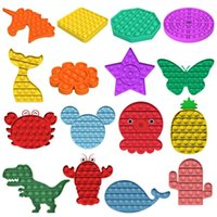 Push Pop Bubble Sensory Toy Autism Needs Squishy Stress Reliever Toys Adult Child Funny Anti-stress Pop Fidget Reliver Stress 50pcs L012