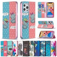 Colorful Painting Phone Cases for iPhone 13 12 11 Pro Max X XS XR 7 8 Samsung Galaxy Note20 S21 S20 Ultra Note10 S10 Plus Magnetic Adsorption Wallet Flip Stand Cover