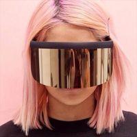 Fashion Of Oversize Mask Shape Style Style Sunglasses Cool Strada Snap Brand Design Occhiali da sole Oculos de Sol 1799