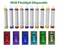 TastefoG RGB Lanterna Dispositivo descartável 800 Puffs E Cigarro Slim Vape Pen 550mAh Bateria 3.5ml Cartucho Vagens Colorful Stick Stick Kit