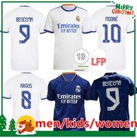 21 22 REAL MADRID jerseys soccer football shirts ALABA HAZARD SERGIO RAMOS BENZEMA ASENSIO MODRIC MARCELO camiseta men kids kit women 2021 2022 uniforms fourth