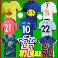 Tamanho S-4XL 2021 CFC Jerseys de futebol pulisic 2122 Havertz Kante Werner Ziyech Abraham Chilwell Monte Jorginho 4th Camisa de futebol
