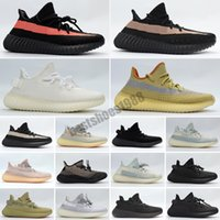 Adidas Yeezy Boost 350 V2 Running shoes Static Refective Kanye west cher Belgua 2.0 Semi Frozen Chaussures Hommes Femmes Entraîneur Sneakers Eur 36-47