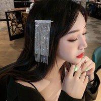 الأزياء والرائعة حجر الراين مشط طويل شرابة تصميم الكلاسيكية مجوهرات غطاء الرأس مأدبة الزفاف عيد الحب هدية قصات الشعر بارع
