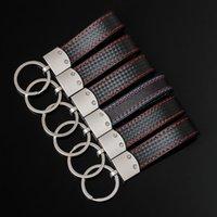 10pcs 3D Fashoin Metal+Leather Belt Chrome Keyring Keychain Key Chain For M S port E46 E39 E60 E90 F10 F30 E36 X5 E53 E30 E34 X1 X3 Good Quality