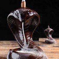 Supporto per incenso personalizzato Handmade Ceramic Incenso Cono Candlestick Arredamento per la casa Decorativo Design Design Cascata Refux Burner incenso