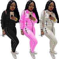 Donne Tracksuit 2 pezzi set inverno manica lunga top e pantaloni set joggers casual plus size outfits Bulk Arties all'ingrosso lotti Due donne