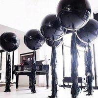 Ballons en latex rond noir 5/18/36 pouces Décoration de mariage Helium Grand Boule d'air de décoration de la fête d'anniversaire géant