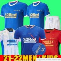 2021 Rangers 150. Yıldönümü Futbol Formaları Glasgow 2022 Eğitim Tee Yelek Şampiyonlar 55 Defoe Hagi Barker Morelos Özel 20 21 22