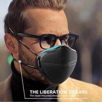Kanshouzhe جديد XL قناع قابل للغسل قابلة لإعادة الاستخدام قناع الوجه منفصل الأنف سلامة الغبار أقنعة الغبار تنفس الغبار مع فلاتر 5PCS