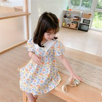 Girl's Dresses Girl Short Sleeve Dress Toddler Summer Clothes 2021 For 2-6 Years Old Kids Casual Flower Girls Princess