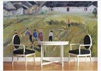 Custom wallpaper 3D Stereoscopic Modern abstract art pastoral oil painting big harvest Living room sofe TV background wall mural