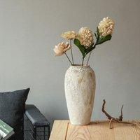 Vintage Shabby Chic Minimalist Vazo Modern Seramik Uzun Boylu Zemin Çiçek Düzenlemesi Oturma Odası Floreros Ev Dekorasyonu EL50VA Vazolar