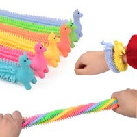 DHL fidget toys Sensory Toy Noodle Rope TPR Stress Reliever Unicorn Malala Le Decompression Pull Ropes Anxiety Relief For Kids Funny FY2630