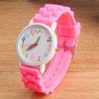 Armbanduhren Kinder Cartoon Uhren Frauen Bleistift Casual Quarzuhr Silikon Jelly Relogio Feminino Kinder Uhr für Geschenke