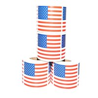 미국 국기 스티커 250pcs / 롤 창의력 미국 독립 기념일 창조적 인 선물 씰링 스티커 선물 포장 용품