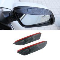 Pour BMW 3 SERIES 2005-2021 E90 F30 GT Autocollants de voiture F34 G20 Stickers Côté Vue arrière Miroir Viseur de pluie Fibre de carbone Fibre de carbone Texture Sun-brouette Sun Shade Garde