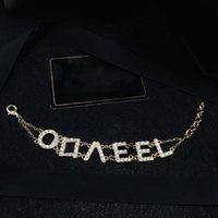 Designer Donne Braccialetti Lettere Gioielli Golden Gioielli Moda Accessori di Lusso Boutique Avere francobolli con scatola 032109
