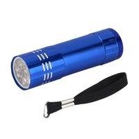 El fenerleri meşaleler yüksek kaliteli mini alüminyum ultra menekşe 9 led torch ışık lambası penlight v