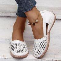 Sandals Women's Summer Wedge Closed Toe Hollow Woman Shoes Casual Slip On Sandalias De Verano Para Mujer