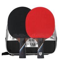 Tennis Tennis Raquets Professionnel 6 étoiles 7 couches Bois Bat Raquette Long Court Poignée Pong Pong Pimples dans la formation débutante