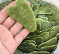 Healthylife Heart Shape Natural Xiuyan Kamień Jade Guasha Gua Sha Tablica Masażer do złomowania terapii Jade