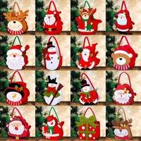 Счастливого Рождества украшения Santa Prose Hand Bag Xmas Висит украшения для вечеринки домашнего декора конфеты подарок сумка FY4822