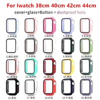 360 Full Screen Protector cases iWatch 38mm 42 mm 40mm 44mm Bumper Frame PC Hard Case With Tempered Glass Film For Watch 5 4 3 2 1 Cover
