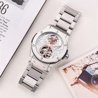 Luxury mens automatic mechanical hollow watch fashion casual retro steel belt waterproof luminous business stainless steels menes watches