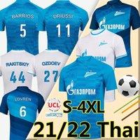 4XL 21/22 FC Zenit St. Petersburg Fußball Jersey Home Away Blue White Malcom Lovren 2021 2022 Santos Barrios Football Hemd Maillots de Foot